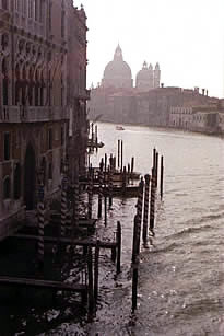 Venice Dock with Gondolas