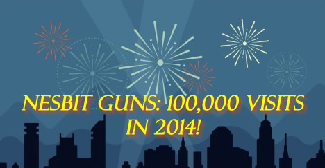 100,000 Nesbit Used Guns visits in 2014